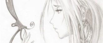 Грустные рисунки для срисовки карандашом (32 фото)