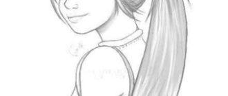 Рисунки для девочек для срисовки карандашом (52 фото)