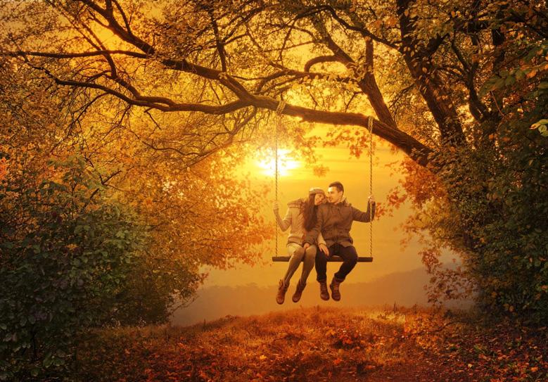 Картинки по запросу Осень влюблённые