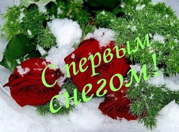 Поздравлением, поздравления с первым снегом картинки