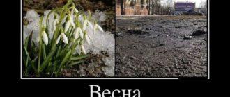 Прикольные картинки про весну с надписью (36 фото)
