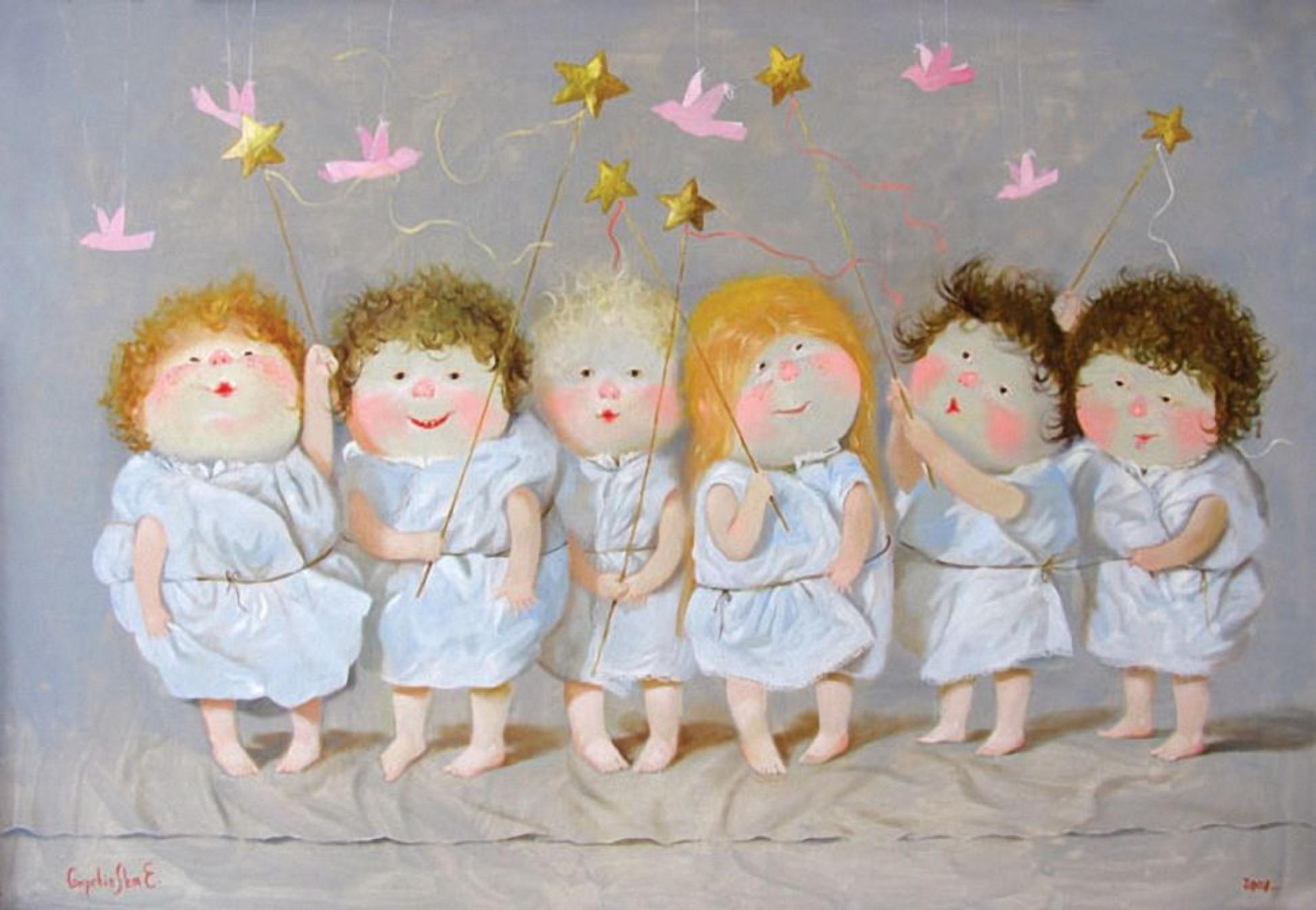 Картинки с забавными ангелочками