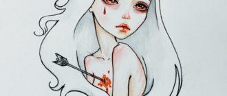 Картинки для срисовки грустные (31 фото)