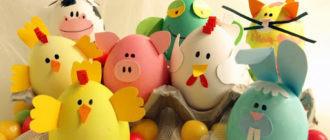 Идеи пасхальных яиц для детей (33 фото)