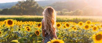 Красивые картинки девушки в подсолнухах (40 фото)