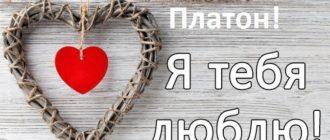 Любовные картинки — Платон, я тебя люблю! (30 фото)