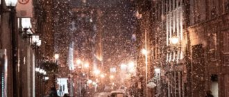Красивые картинки зимний вечер в городе (34 фото)